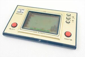 LCD-JUNK-FIRE-Game-Watch-Not-Working-Gold-Ref-0319-Wide-Screen-Nintendo-JAPAN