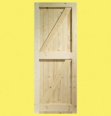 External Pine Framed Ledged And Braced Door Gate Ebay
