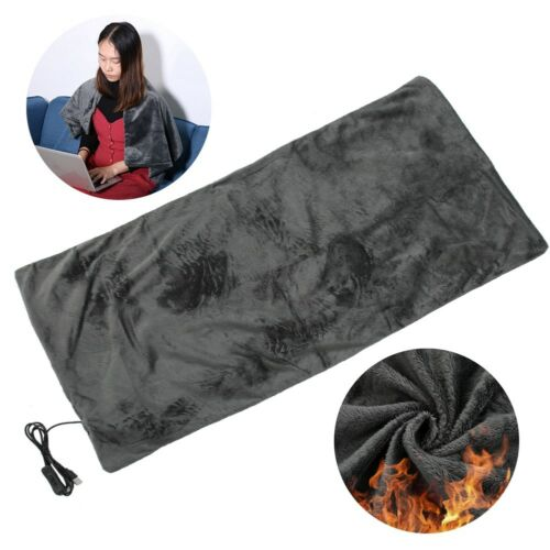 3 Sizes Electric Heating Blanket Winter Warm Soft Shawl Office Home Chair Pad