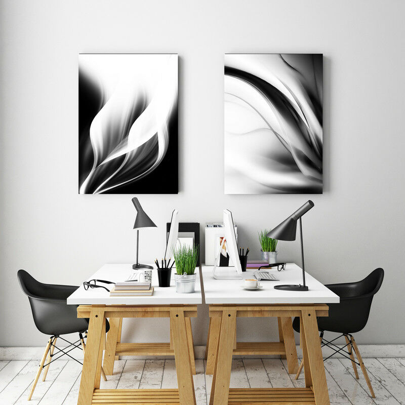Large Black White Canvas Print Abstract Art Canvas Print
