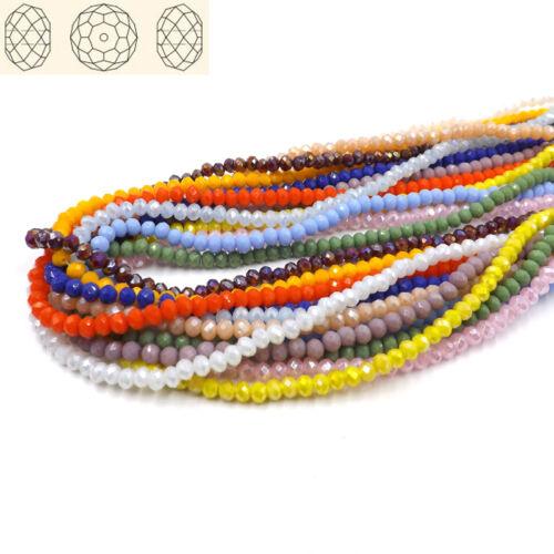 200pcs #5040 4 mm plat ovale cristaux perles Loose Ball Beads À faire soi-même Jewelry Making