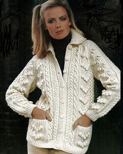 KNITTING PATTERN -Ladies aran longer length cardigan- fits ...