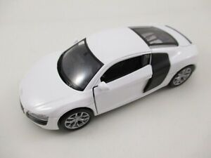 Audi-r8-v10-en-blanco-maqueta-de-coche-metal-1-34-Diecast-Welly-Nex-Model