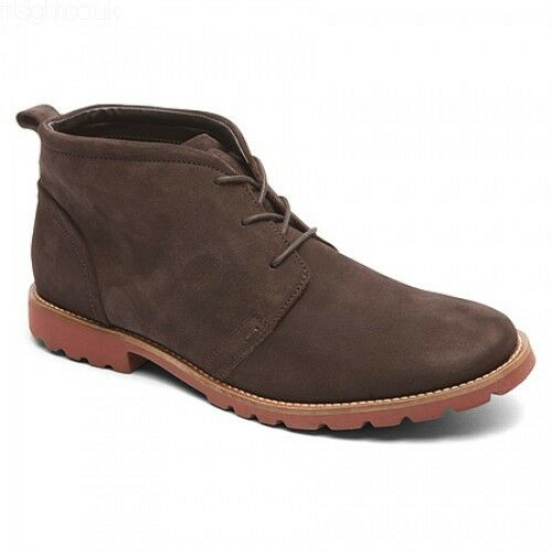 New Rockport Charson Leather Men Boots Sz 10