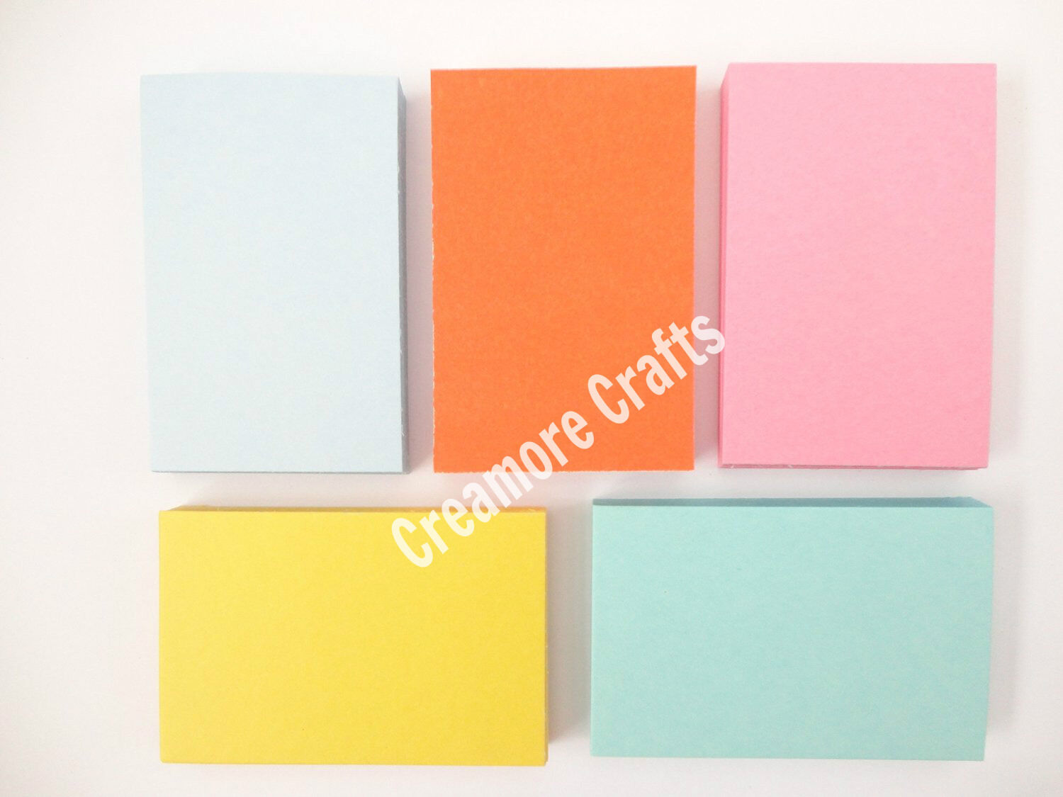 Details about 250 Blank Flash Cards - 5 Colours - Plain Index Revision  Notes Early Learning