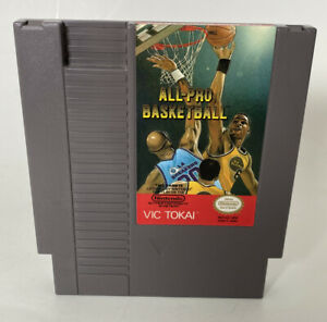 All-Pro Basketball Vic Tokai Nintendo Game Cartridge with Dust Cover