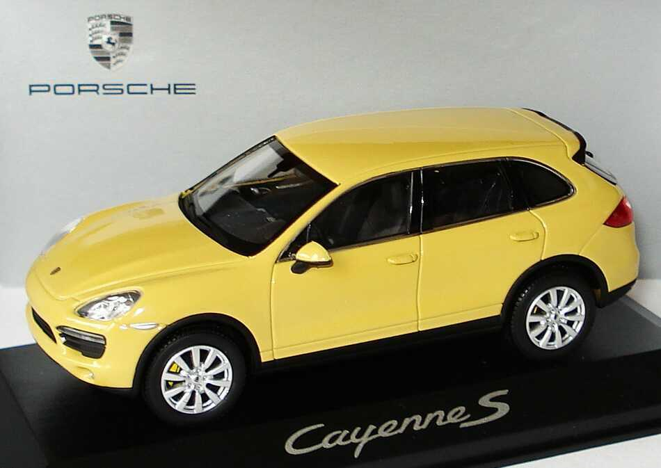 1 43 Porsche Cayenne S 2010 Arena Amarillo El amarillo-Distribuidor Edition-Minichamps
