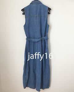 73521abbcb ZARA NEW WOMAN AUTHENTIC DENIM SHIRT DRESS TIED BELT MIDI BLUE XS-L ...
