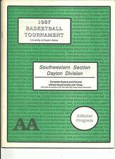 1987 OHIO HIGH SCHOOL SOUTHWESTERN DAYTON SECTIONAL BASKETBALL PROGRAM