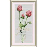 Counted Cross Stitch Kit - Trio Of Wonderful Roses - Picture