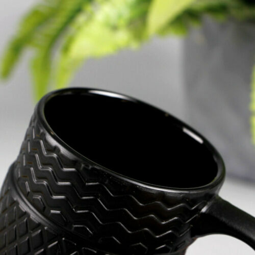 Creative Tyre Shaped Coffee Mug Ceramic Water Drinking Cup 14oz Home Office Gift
