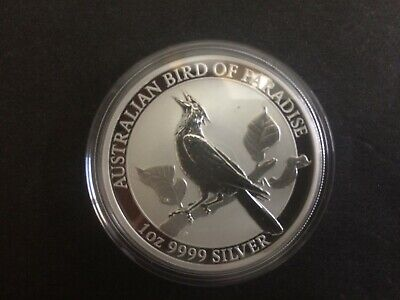 2019 Australian $1 Bird of Paradise 1oz .999 Silver Bullion Coin Perth Mint
