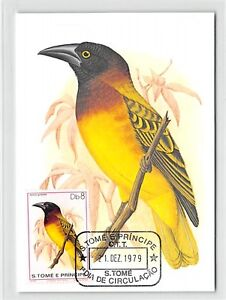 Intelligent S. Tome Mk 1979 Oiseaux Géants Weber Birds Maximum Carte Maximum Card Mc Cm M276-afficher Le Titre D'origine Art De La Broderie Traditionnelle Exquise