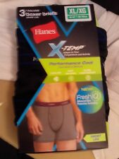Hanes MTBSA3 Red Label Mens X-temp Short Leg Active Cool Boxer Brief Xx-large Assorted