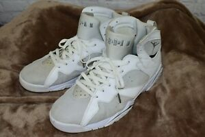 Nike-Air-Jordan-7-VII-Retro-Men-s-Sz-14-Pure-Money-White-Silver