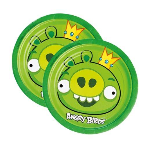 18cm mit dem Motiv aus dem beliebten Spiel Angry Birds Teller im 8er Pack