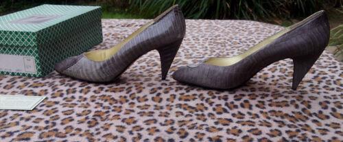 taille Renee Vintage serpent 40 peau cuir J de Chaussures Uk en 7 gris de fqSZv