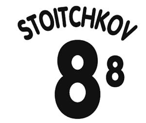 Bulgaria Stoitchkov Nameset 96 Shirt Soccer Number Letter Heat Print Football A