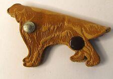 1950's RIVAL DOG FOOD figural dogLEATHER fob key ring holder case