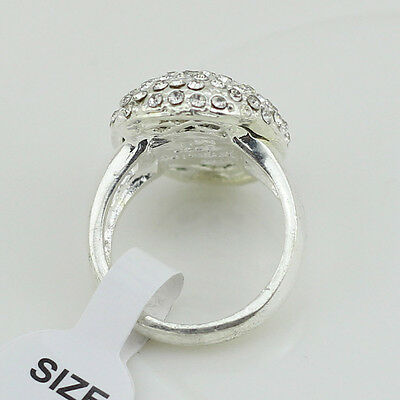 Fashion Women's Wedding Rings Engagement Ring Silver Crystal Jewelry Size 6-10