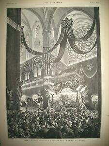 NOTRE-DAME-DE-PARIS-MESSE-THIERS-NAUFRAGE-VAPEUR-PRINCESSE-ALICE-GRAVURES-1878