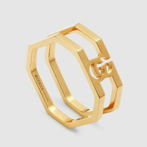 6efa7907c9e78 Details about GUCCI Running G 18K Yellow Gold Band Ring Size 14 ( US 6 3/4  6.75 )