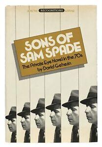 David Geherin: Sons of Sam Spade SIGNED BY ROBERT B. PARKER