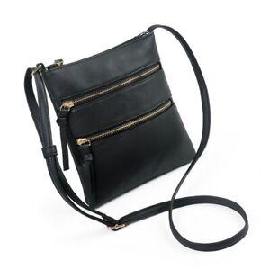 Amaze Crossbody Bag Double Zipper Functional Multi Pocket Shoulder Handbag Tote