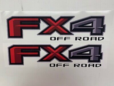 2017 Ford F250 F350 FX4 Off Road Decals F offroad Stickers bed Side set of 2