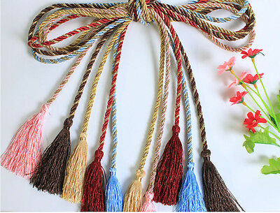 Cotton Rope Tassel Window Curtain Fringe Tiebacks Tie Backs Room Decor 6 Color
