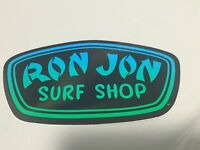 Ron Jon Surf Shop Neon Decal Turquoise