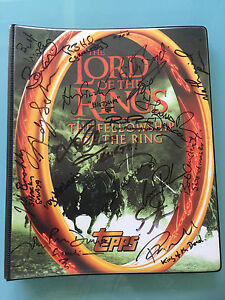 Lord-of-The-Rings-LOTR-TOPPS-FOTR-Fellowship-of-the-Ring-Card-BINDER-signed-x18