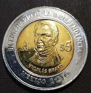 5 pesos Mexico 2009 km# 914 UNC Nicolas Bravo