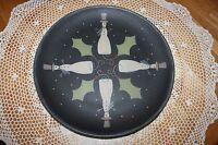 Michelle L Kildow Large 15 ½ Woodenware Plate Hearthside Collection Snowmen