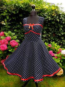50er-Rockabilly-Petticoat-Famenco-Konfirmation-Abiball-Abend-Kleid-34-54
