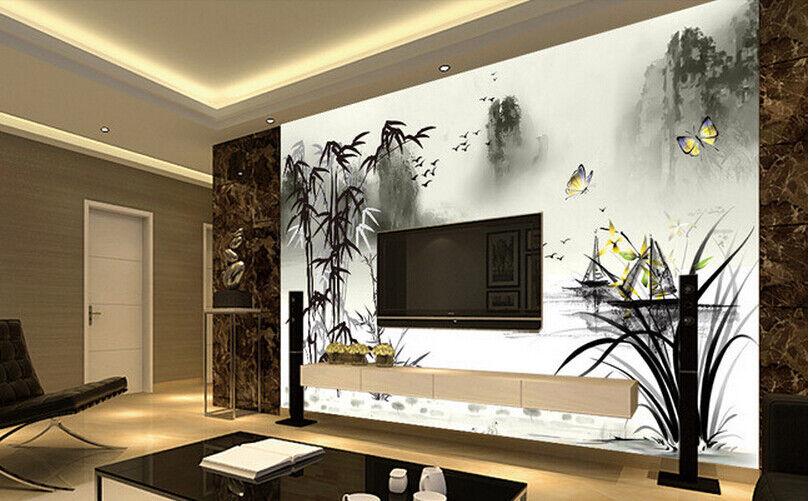 3D Bamboo Lake 834 Wallpaper Mural Paper Wall Print Wallpaper Murals UK Carly