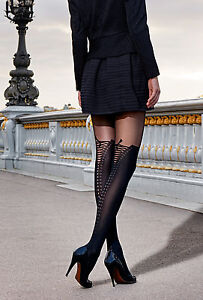 Gerbe-40-sur-Collant-sexy-fantaisie-a-motif-lacet-reference-Cuissardes