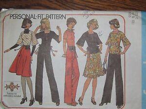 7586-Vintage-Simplicity-Sewing-Pattern-Misses-Top-Wrap-Skirt-Pants-Bag