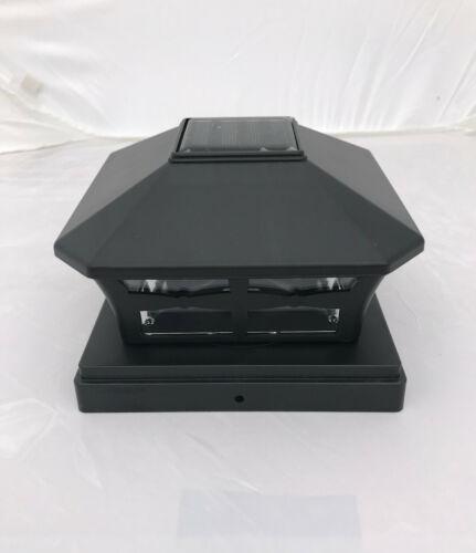 """13-Pk Solar Black Cap Light With White SMD LED for 6/""""X6/"""" Vinyl//PVC or Wood Post"""