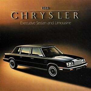 Details about 1984 Chrysler Executive Sedan and Limousine Dealer Sales  Brochure - Mint!