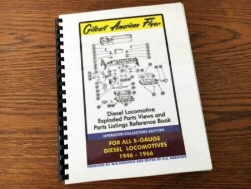 Diesel Locomotive Exploded Parts Views Reference Book Gilbert American Flyer