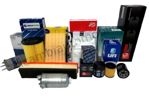 Fiat Stilo 1.9 JTD 85 kW Kit Filtri Tagliando 4 Pz Abitacolo,Aria,Carbur,Olio