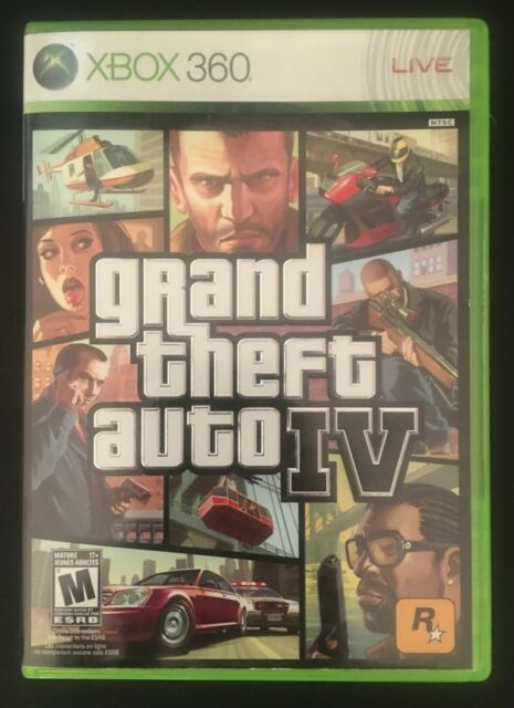 Grand Theft Auto IV (Xbox 360, 2008) Very Good Condition Tested