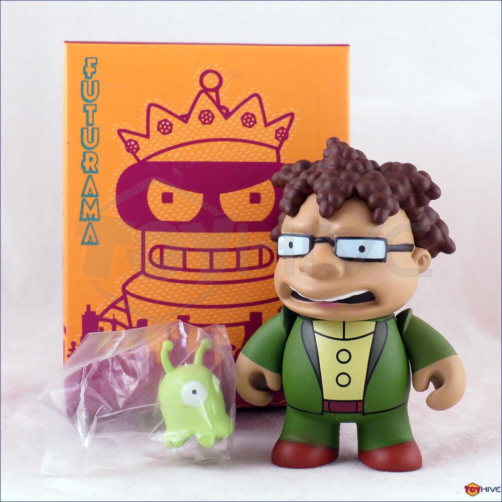 Kidrobot Futurama series 2 Hermes w  Brain Slug 3-inch vinyl figure w  open box