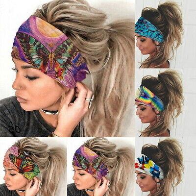 Damen Boho Wide Haarbänder Stirnband Turban Haarschmuck GYM Haarband New!