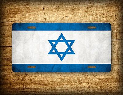 Official Israeli Flag License Plate Israel National Auto Tag 6x12 Aluminum PRO