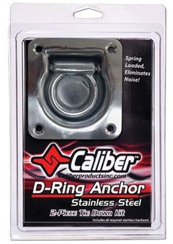 Caliber 13520 Zinc Plated D-Ring Anchor Kit Includes 2 D-Rings