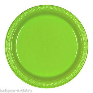 Image is loading 20-KIWI-GREEN-9-034-Large-PLASTIC-Plates-  sc 1 st  eBay & 20 KIWI GREEN 9