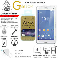 Sony Xperia M4 Aqua Twin Pack Gorilla Tech Brand Screen Protector Tempered Glass
