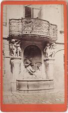 Orig.1873 Albumin CDV Wien, Brunnen im Rathaus v. FRANKENSTEIN